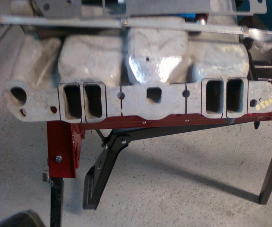 This is a port layout before adding strips of aluminum to intake top and bottom