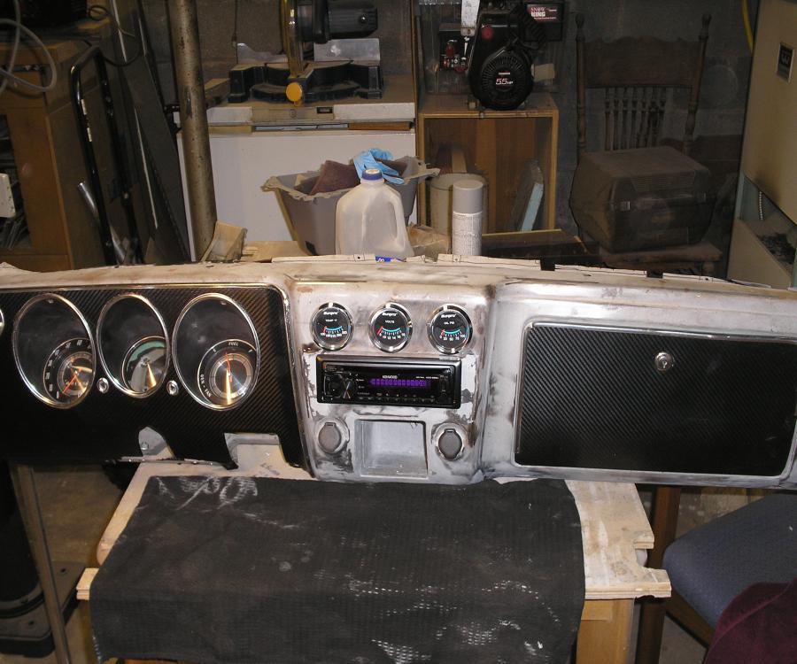 I will be installing a modified 1968 Corvair dashboard.